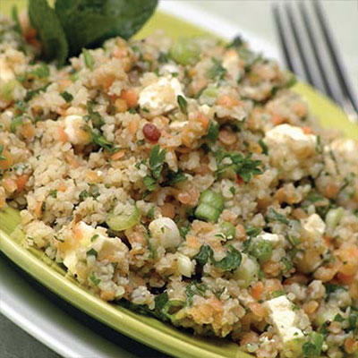 Lentil and Crushed Wheat Salad